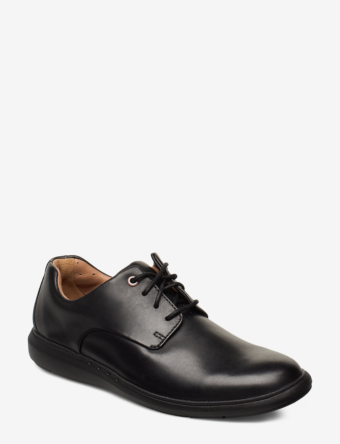 Clarks - Un VoyagePlain - buty ze skóry lakierowanej - black leather - 0