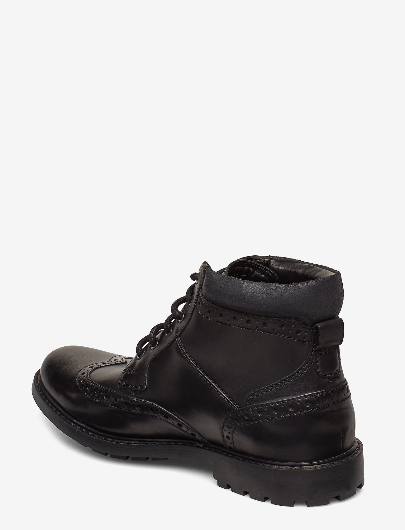 Curington Rise (Blk Smooth Lea) - Clarks