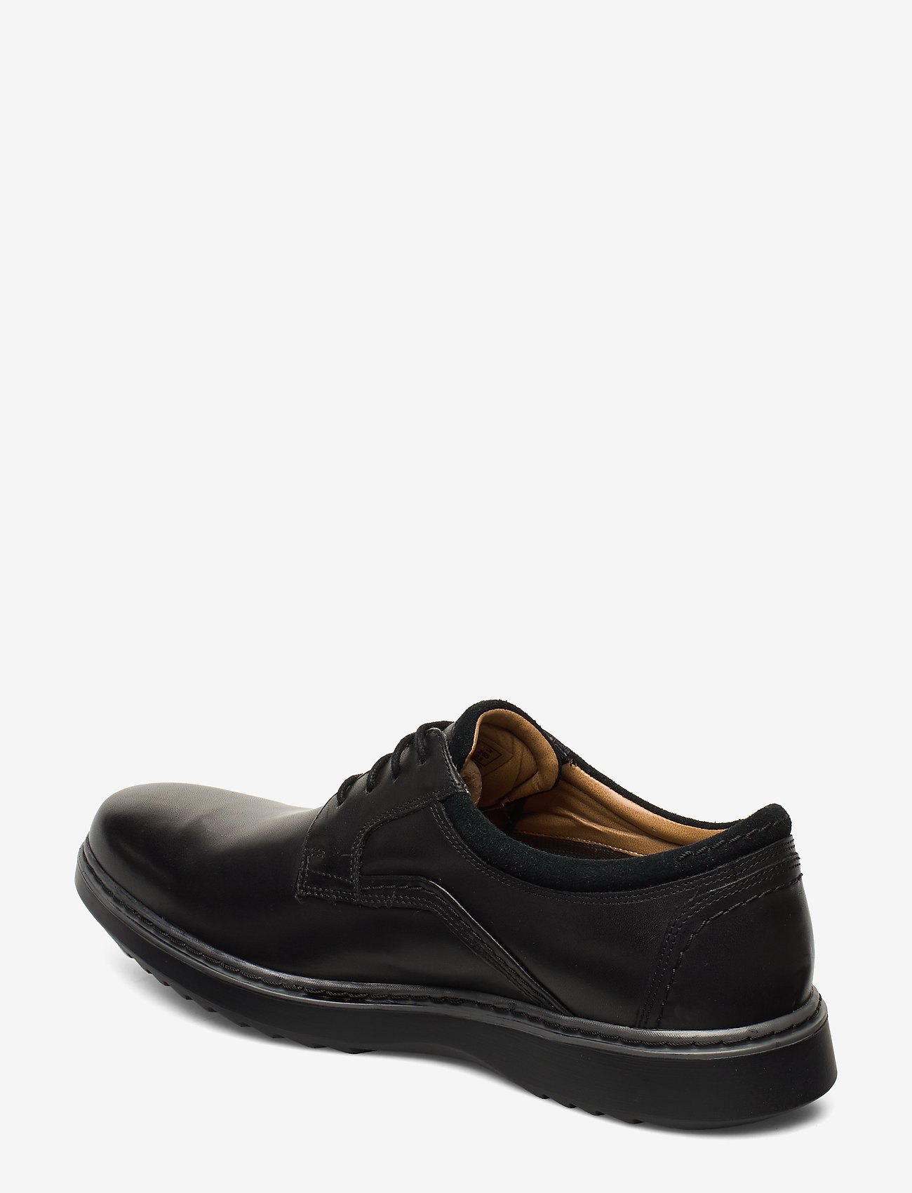 Un Geo Lacegtx (Black Leather) - Clarks