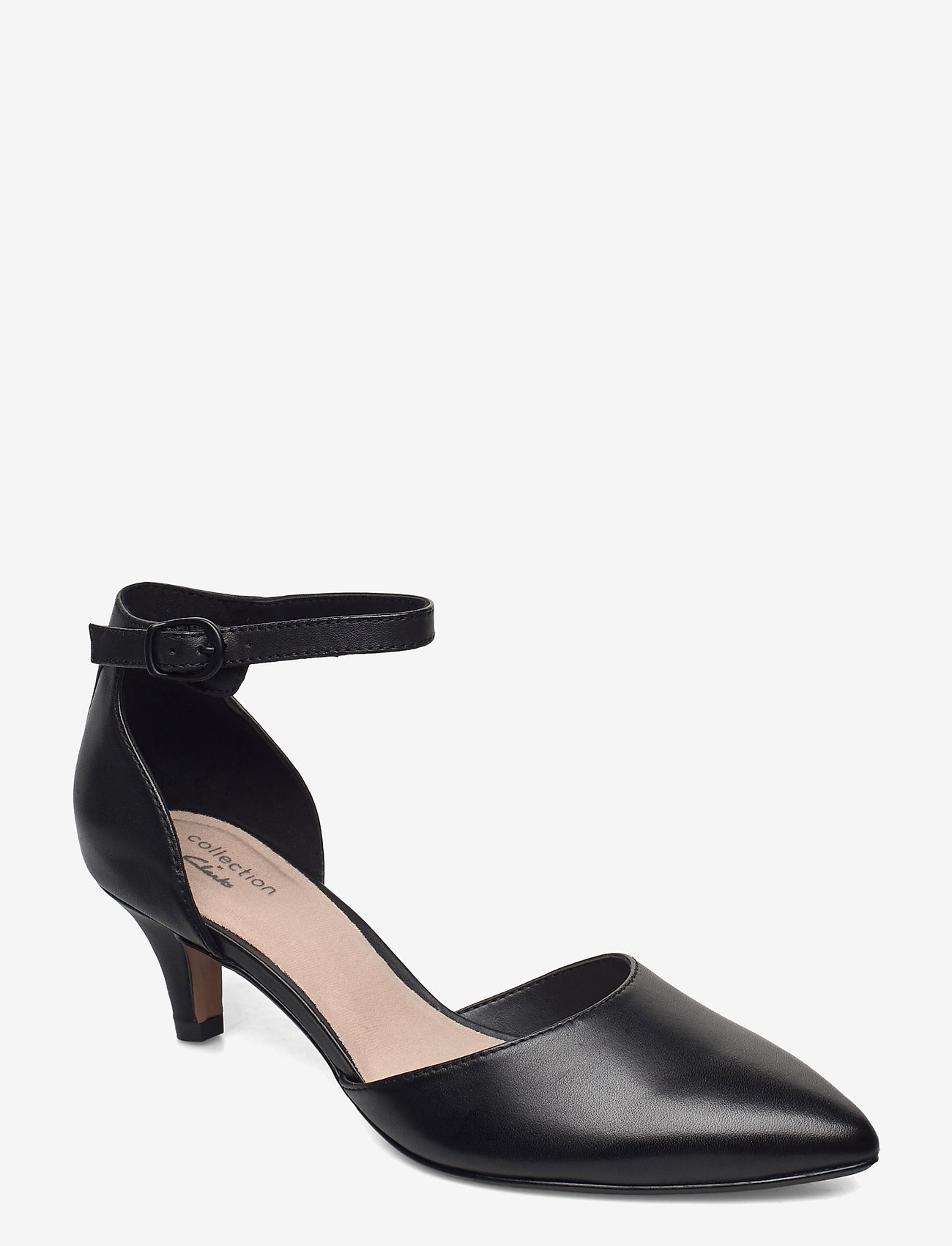 Clarks - Linvale Edyth - klassiska pumps - black leather - 0