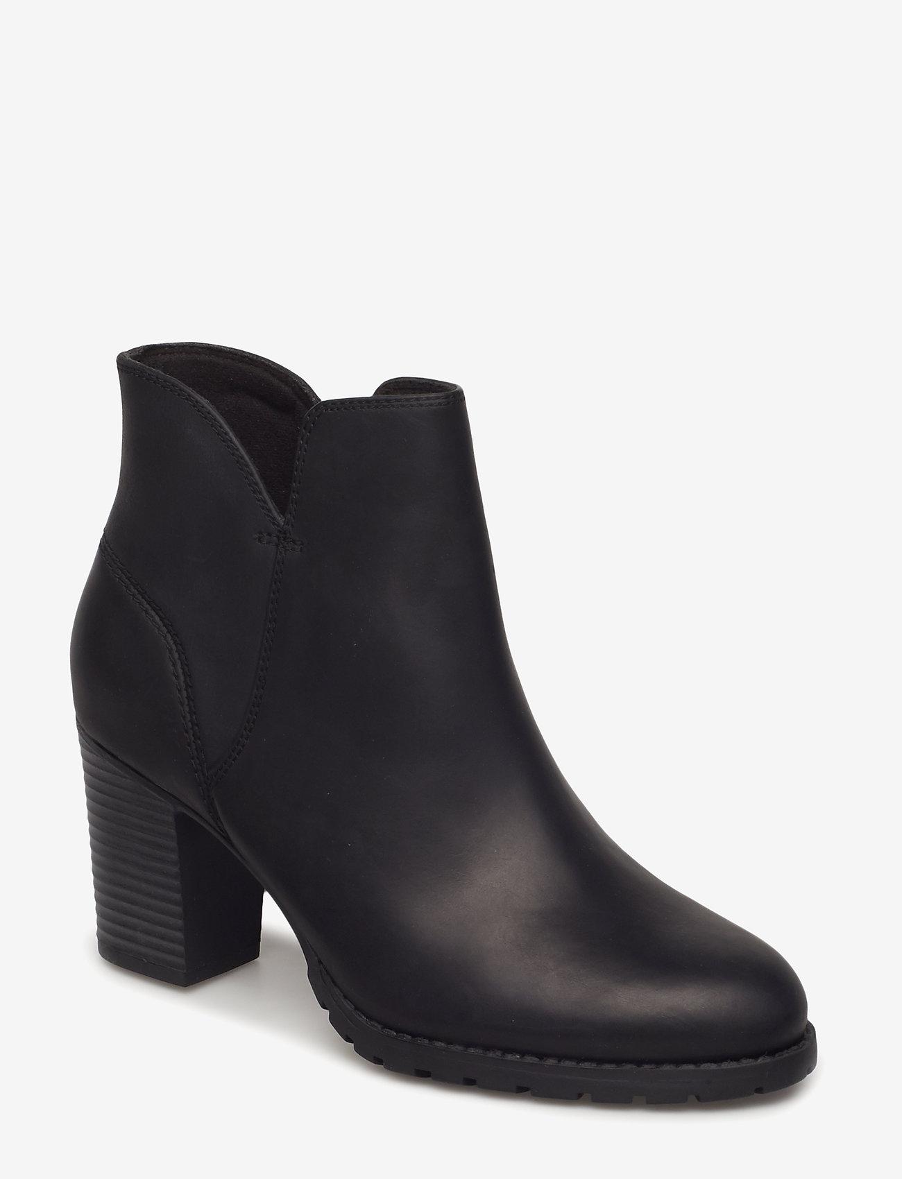 Clarks - Verona Trish - ankelstøvletter med hæl - black leather - 0