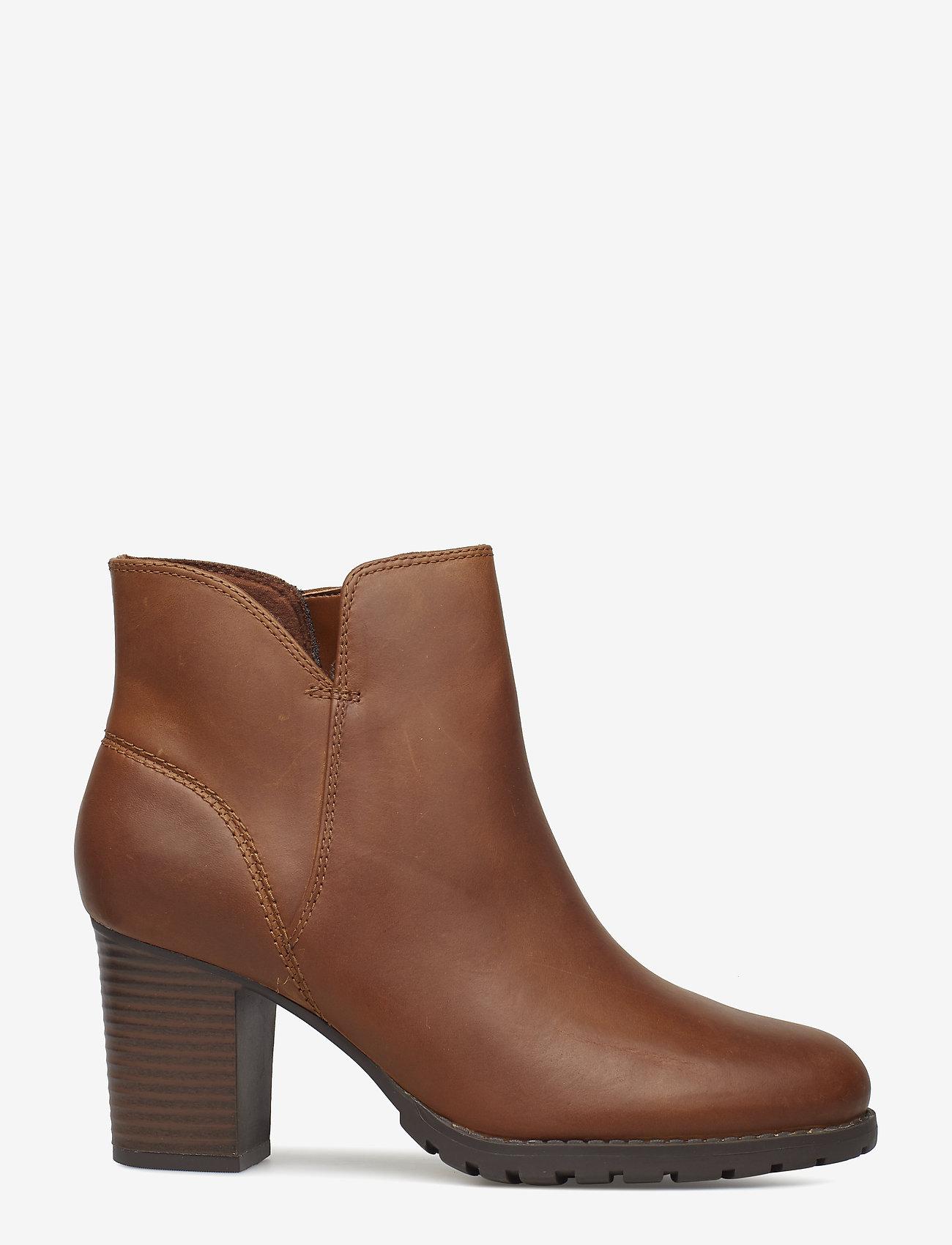 Clarks - Verona Trish - ankelstøvler med hæl - dark tan lea - 1