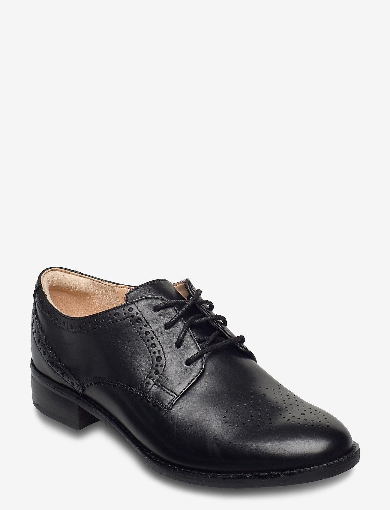 Clarks - Netley Rose - schnürschuhe - black leather - 0
