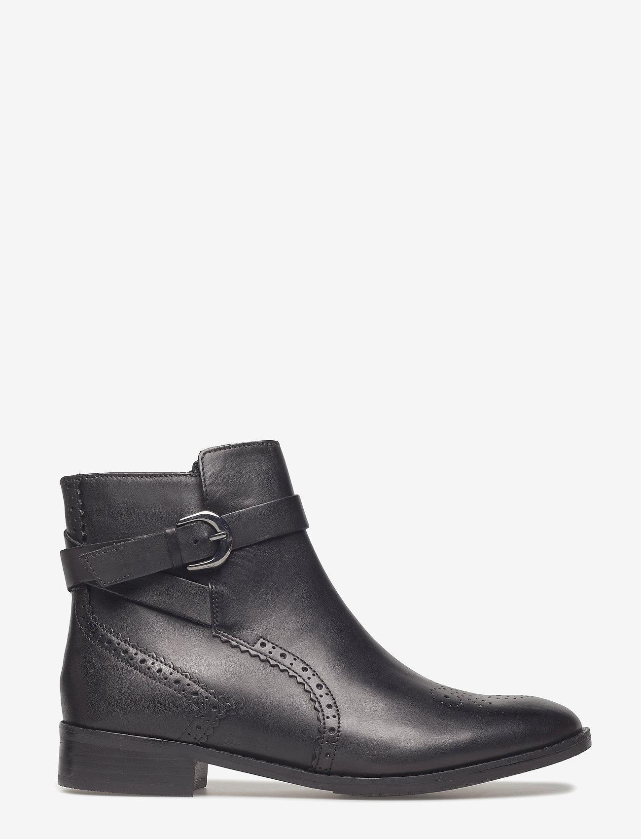 Clarks - Netley Olivia - flade ankelstøvler - black leather - 1
