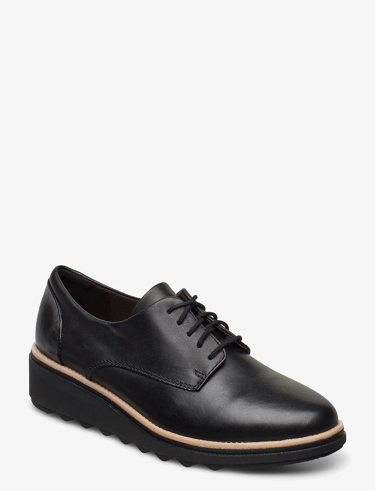 Clarks - Sharon Noel - buty sznurowane - black leather - 0