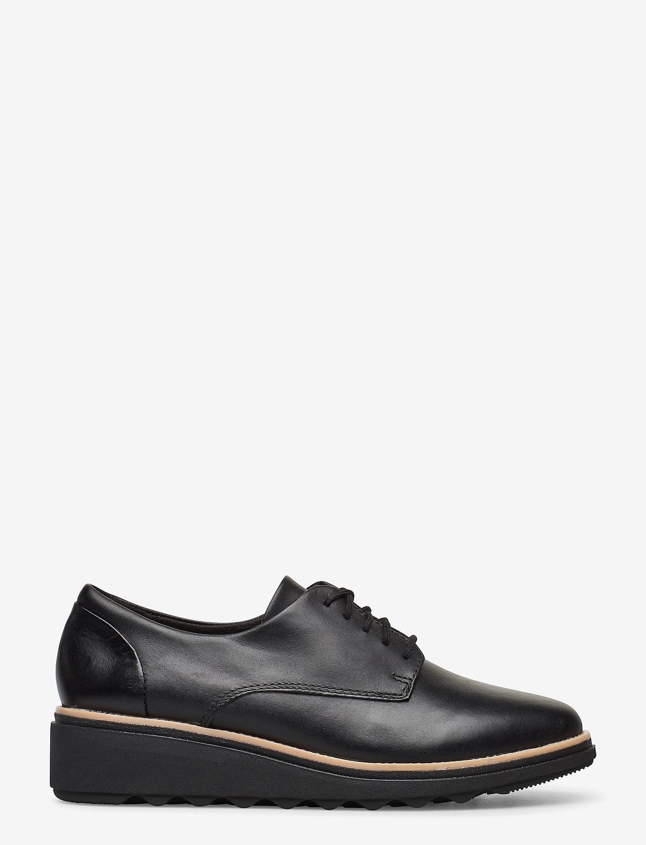 Clarks - Sharon Noel - buty sznurowane - black leather - 1