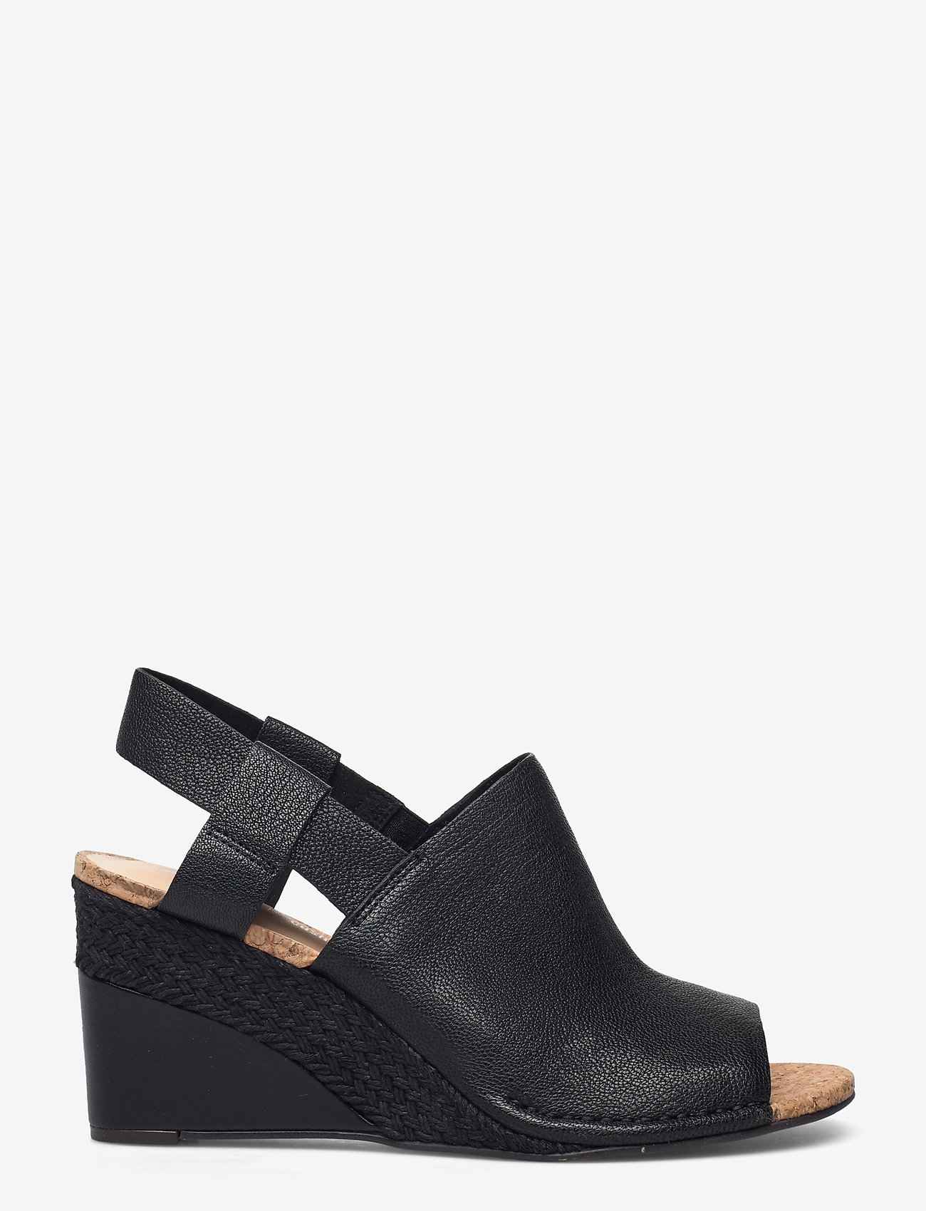 Clarks - Spiced Bay - espadrilles met sleehak - black leather - 1