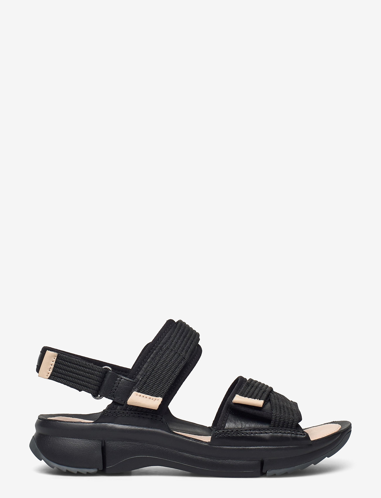 Clarks - Tri Walk - platta sandaler - black combi - 1