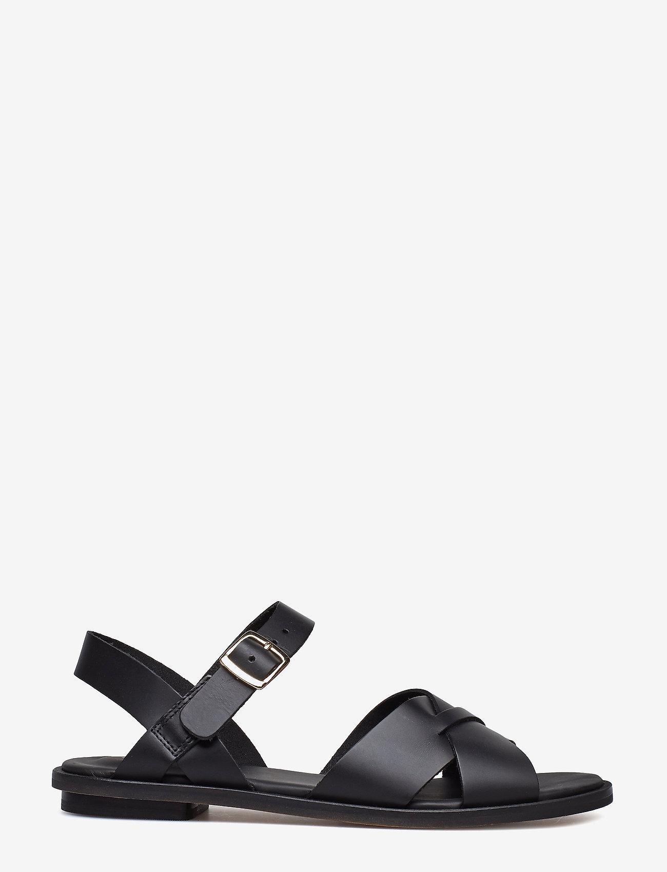 Clarks - Willow Gild - platta sandaler - black leather - 1