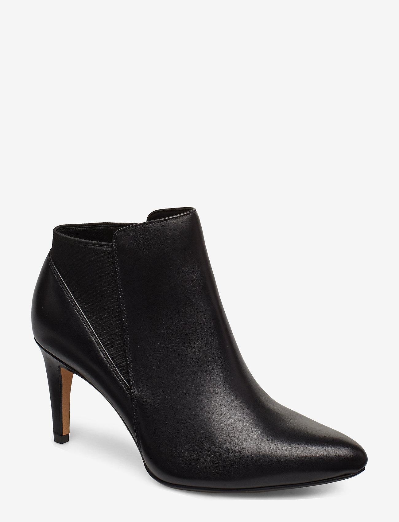 Clarks - Laina Violet - ankelstøvler med hæl - black leather - 0