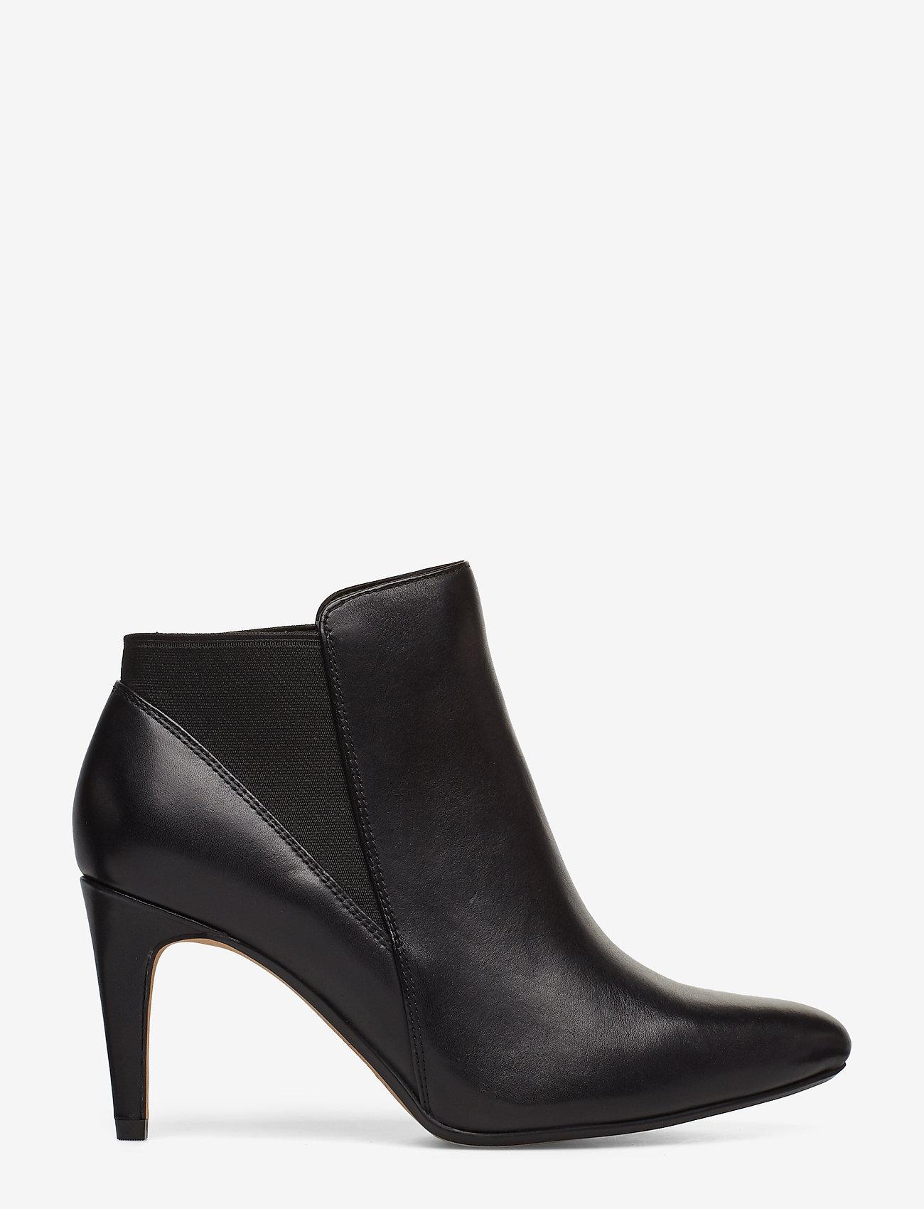 Clarks - Laina Violet - ankelstøvler med hæl - black leather - 1