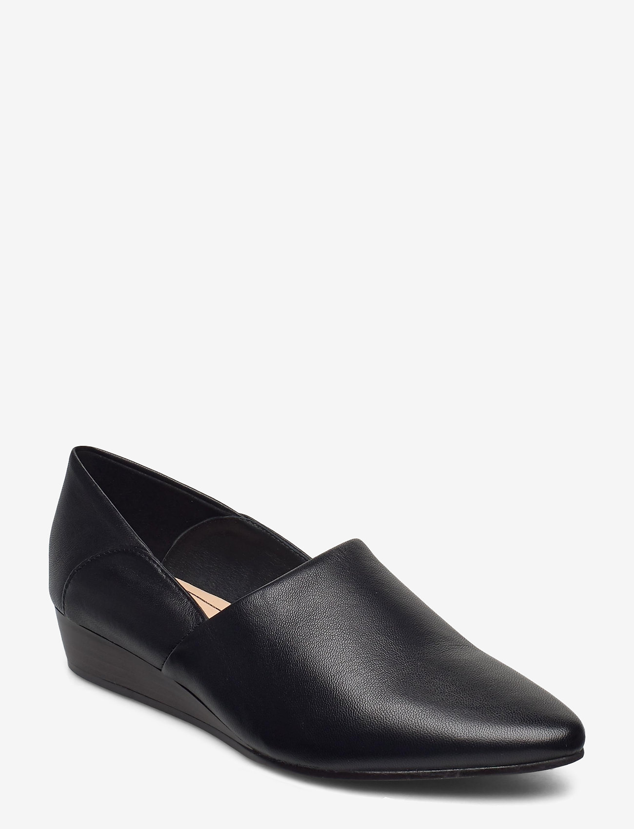 Clarks - Sense May - loafers - black leather - 0