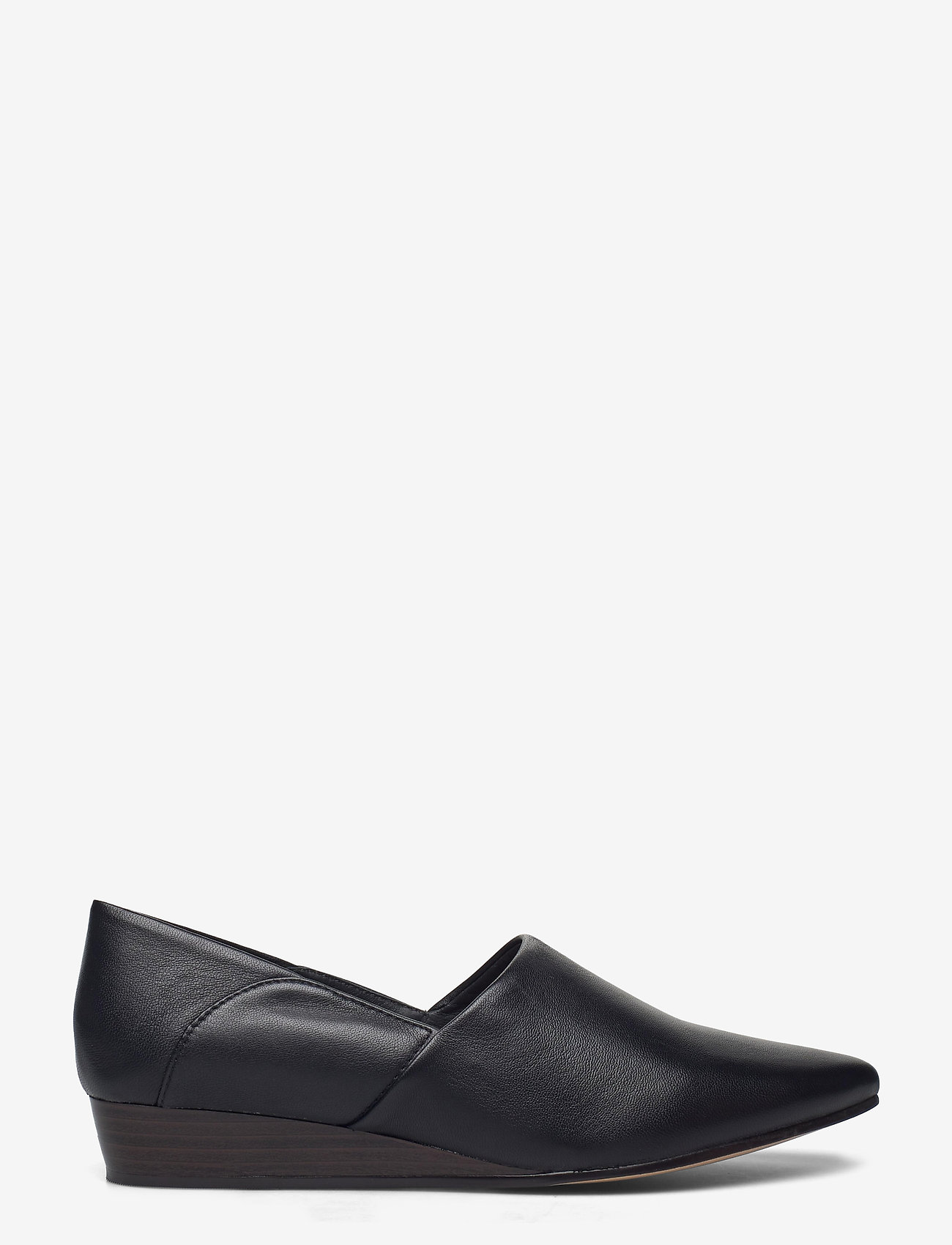 Clarks - Sense May - loafers - black leather - 1