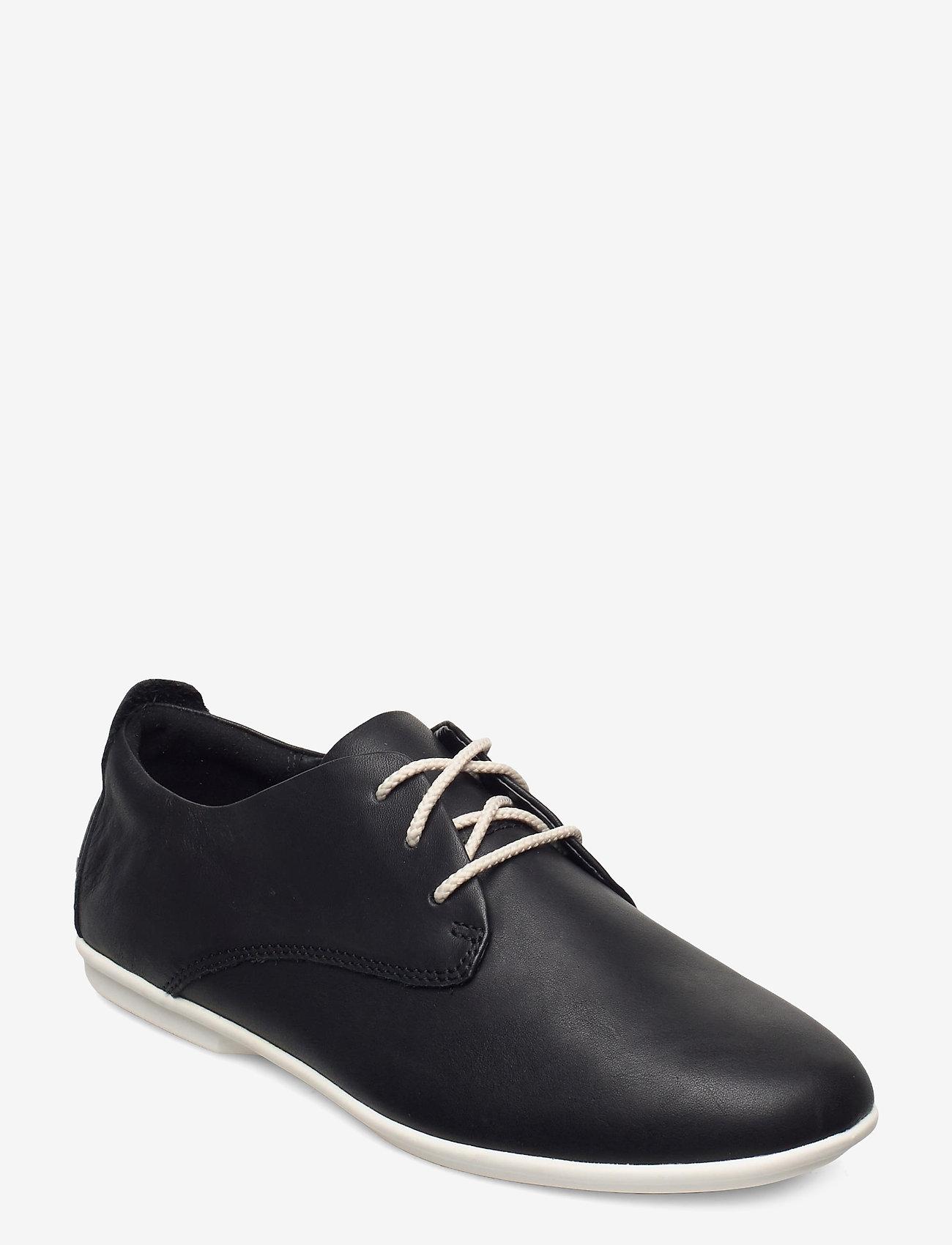 Clarks - Un Coral Lace - snörskor - black leather - 0