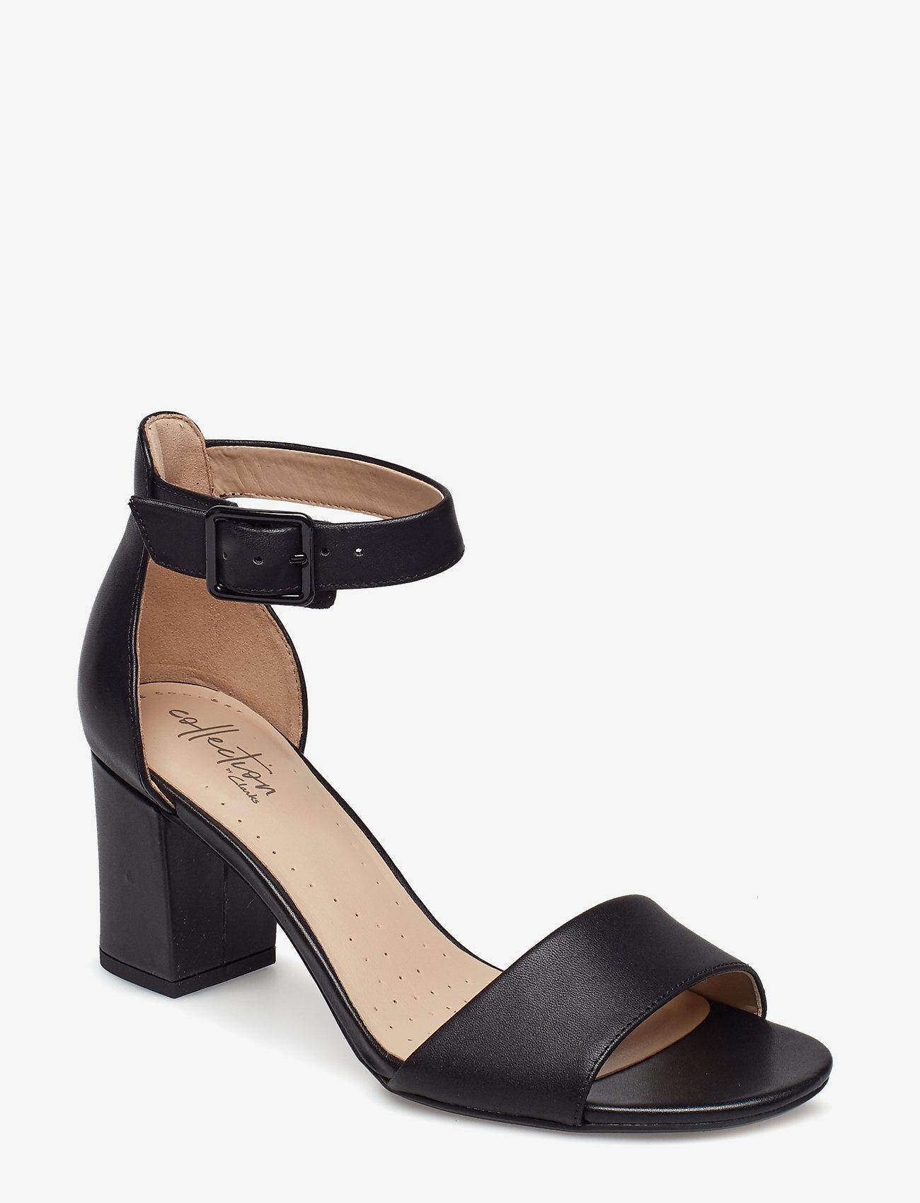 Clarks - Deva Mae - sandales à talons - black leather - 0