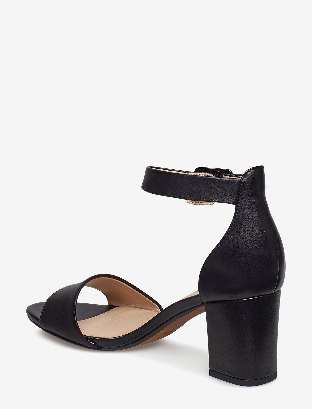 Deva Mae (Black Leather) - Clarks