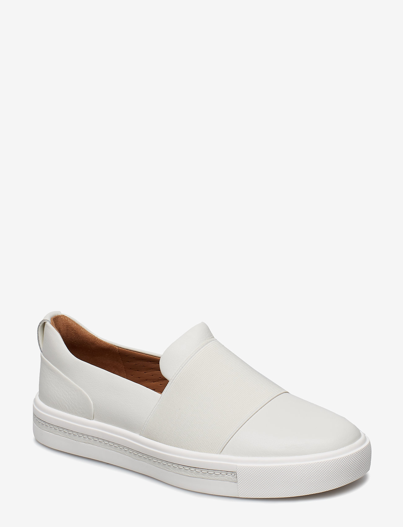 Clarks - Un Maui Step - slip-on sneakers - white leather - 0