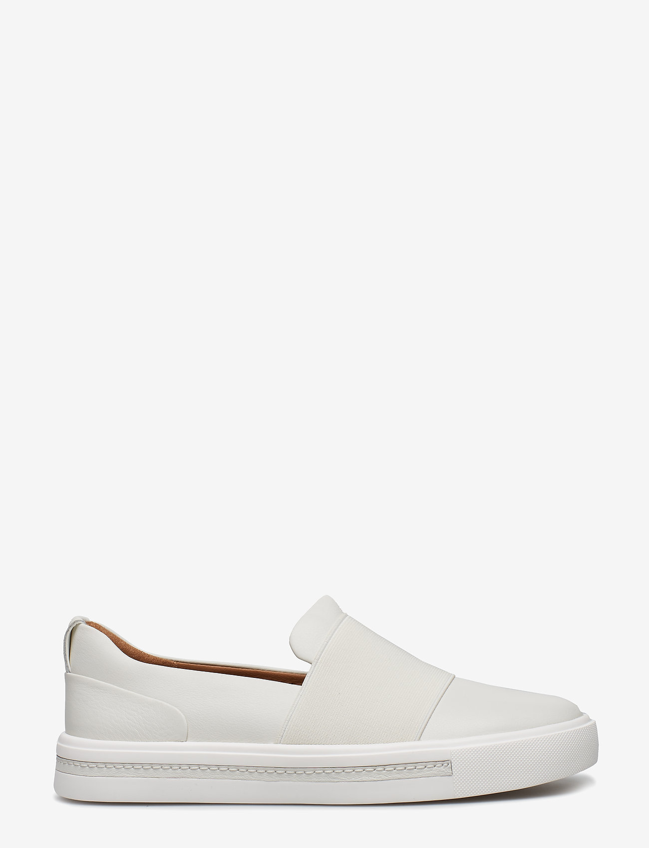 Clarks - Un Maui Step - slip-on sneakers - white leather - 1