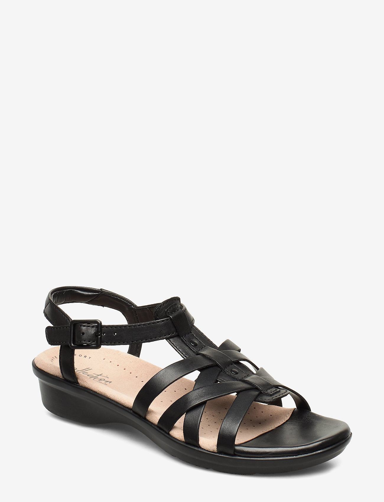 Clarks - Loomis Katey - flate sandaler - black leather - 0