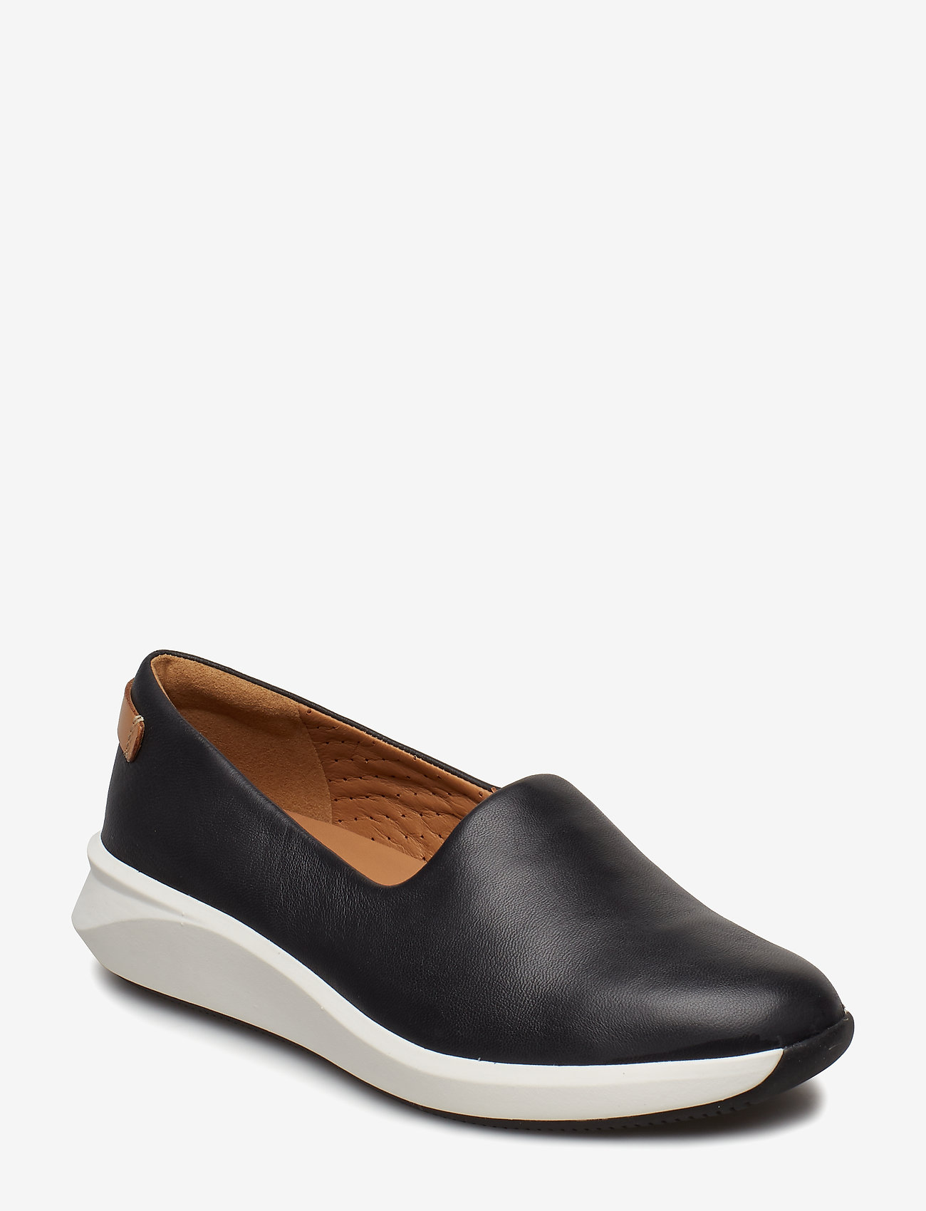Clarks - Un Rio Step - slip-on sneakers - black leather - 0