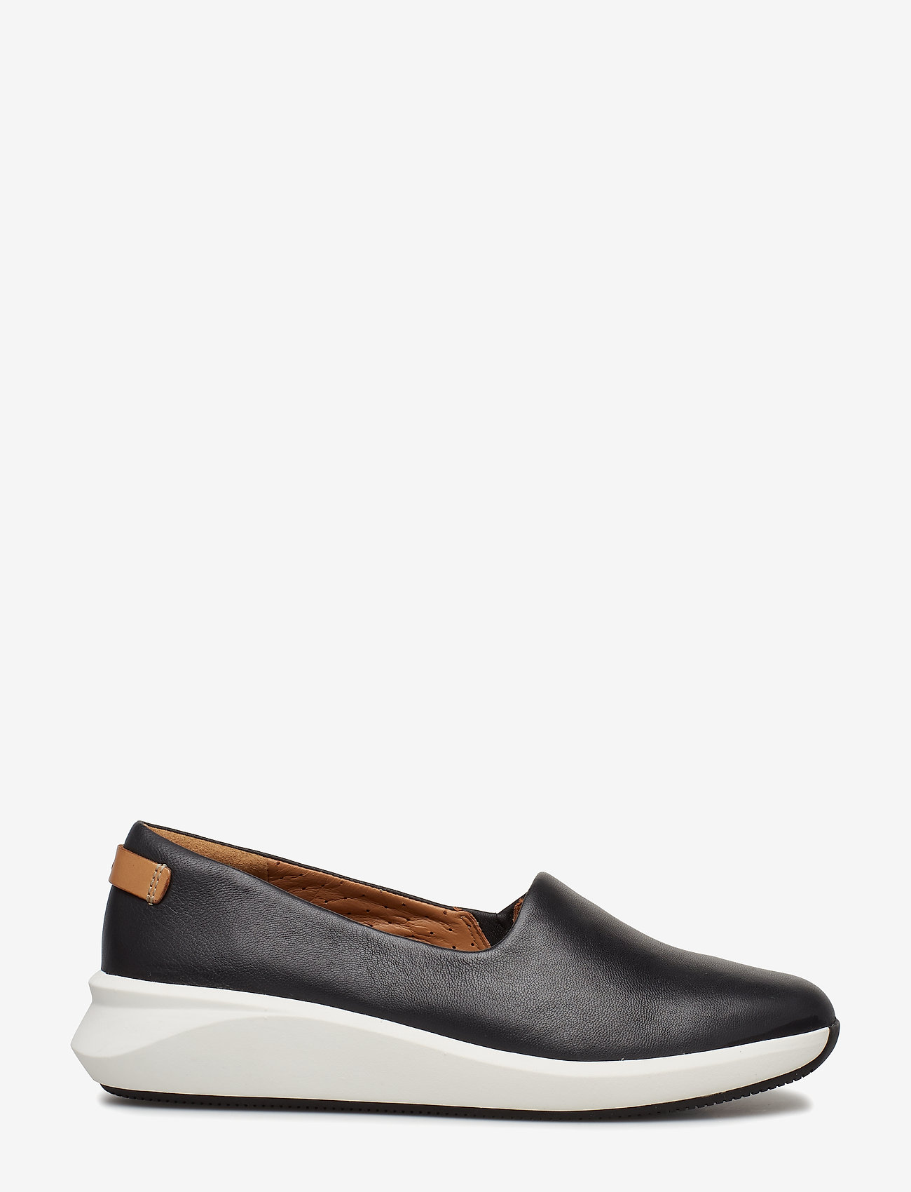 Clarks - Un Rio Step - slip-on sneakers - black leather - 1