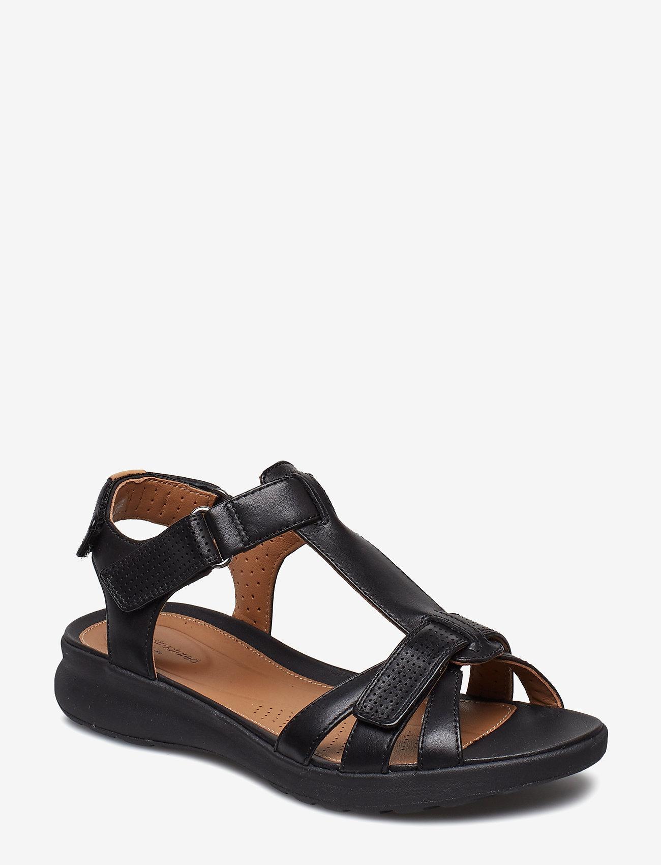 Clarks - Un Adorn Vibe - matalat sandaalit - black leather