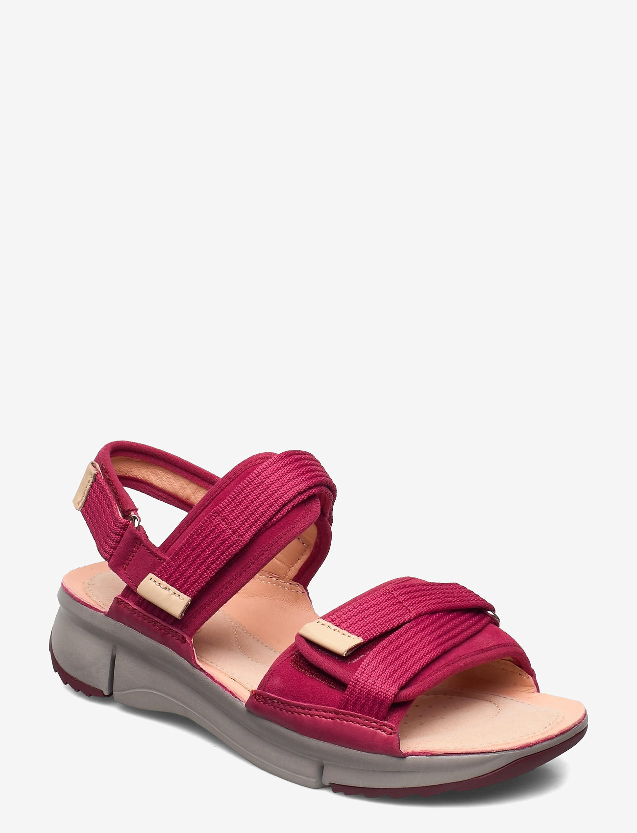Clarks - Tri Walk - platta sandaler - berry combi - 0