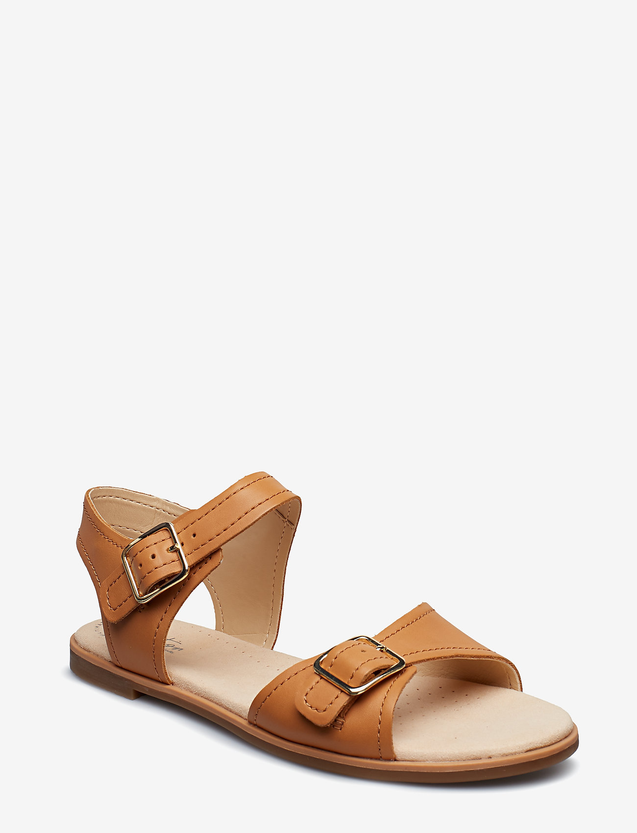 Clarks - Bay Primrose - platta sandaler - light tan lea - 0