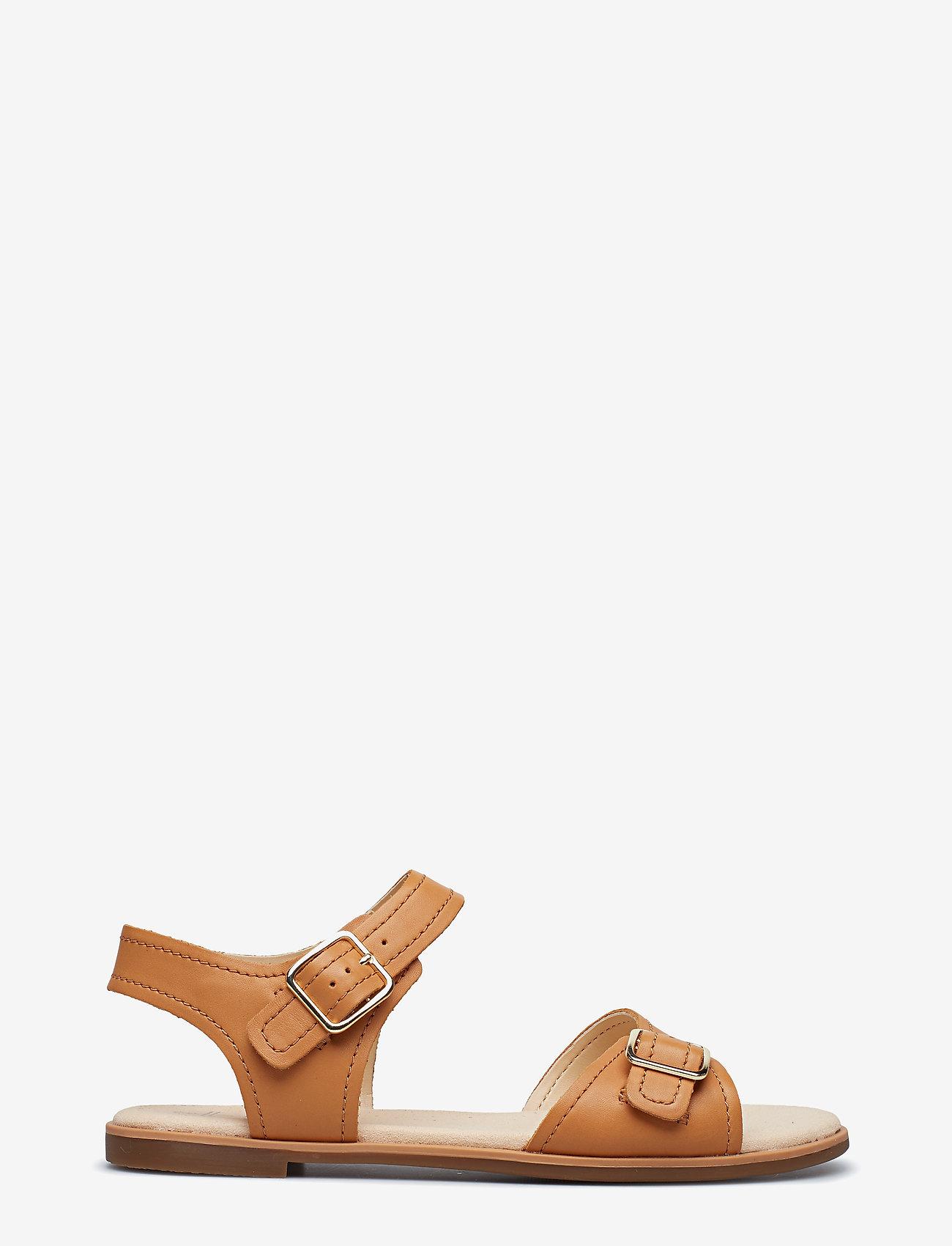 Clarks - Bay Primrose - platta sandaler - light tan lea - 1