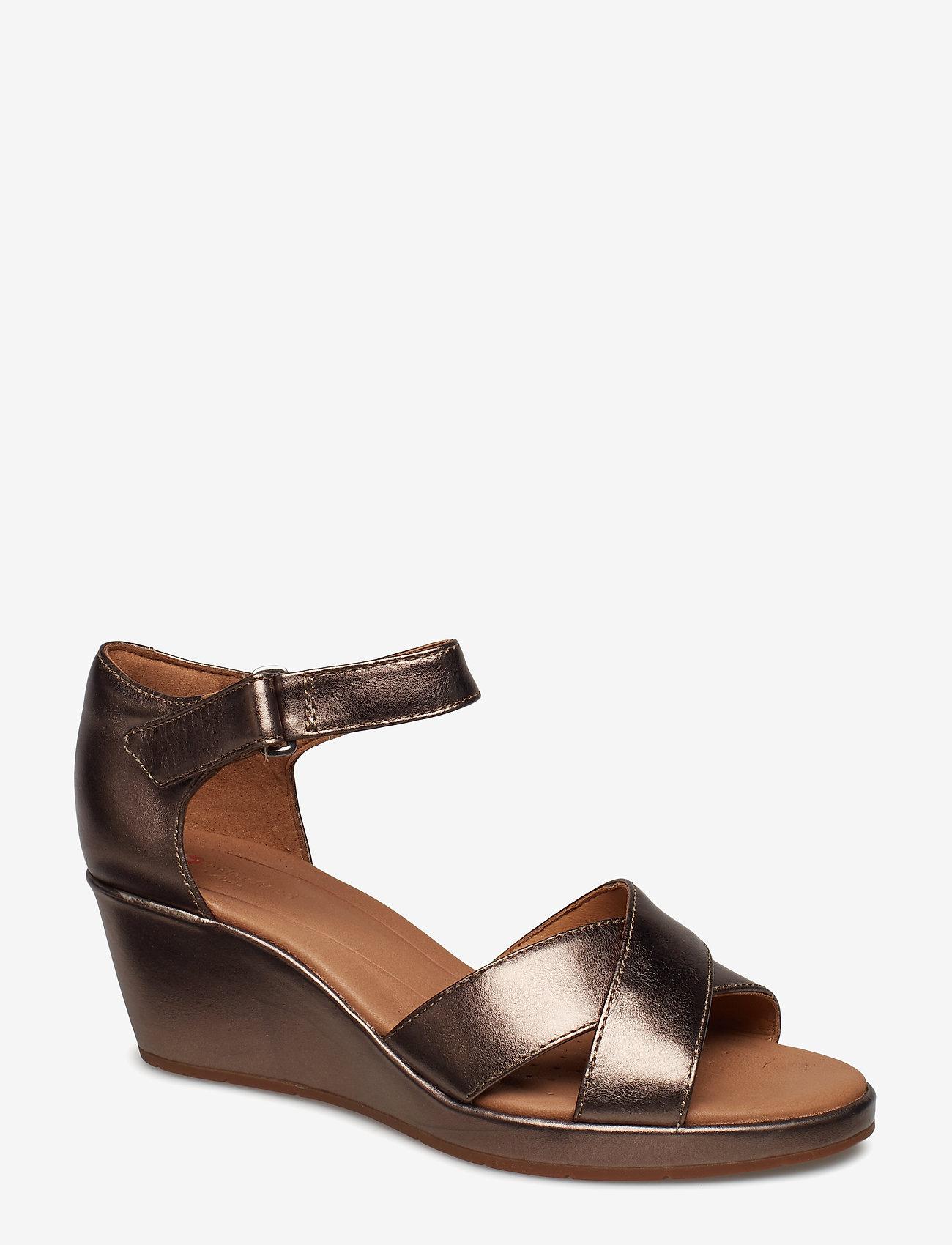 Clarks - Un Plaza Cross - korolliset sandaalit - pebble metalic