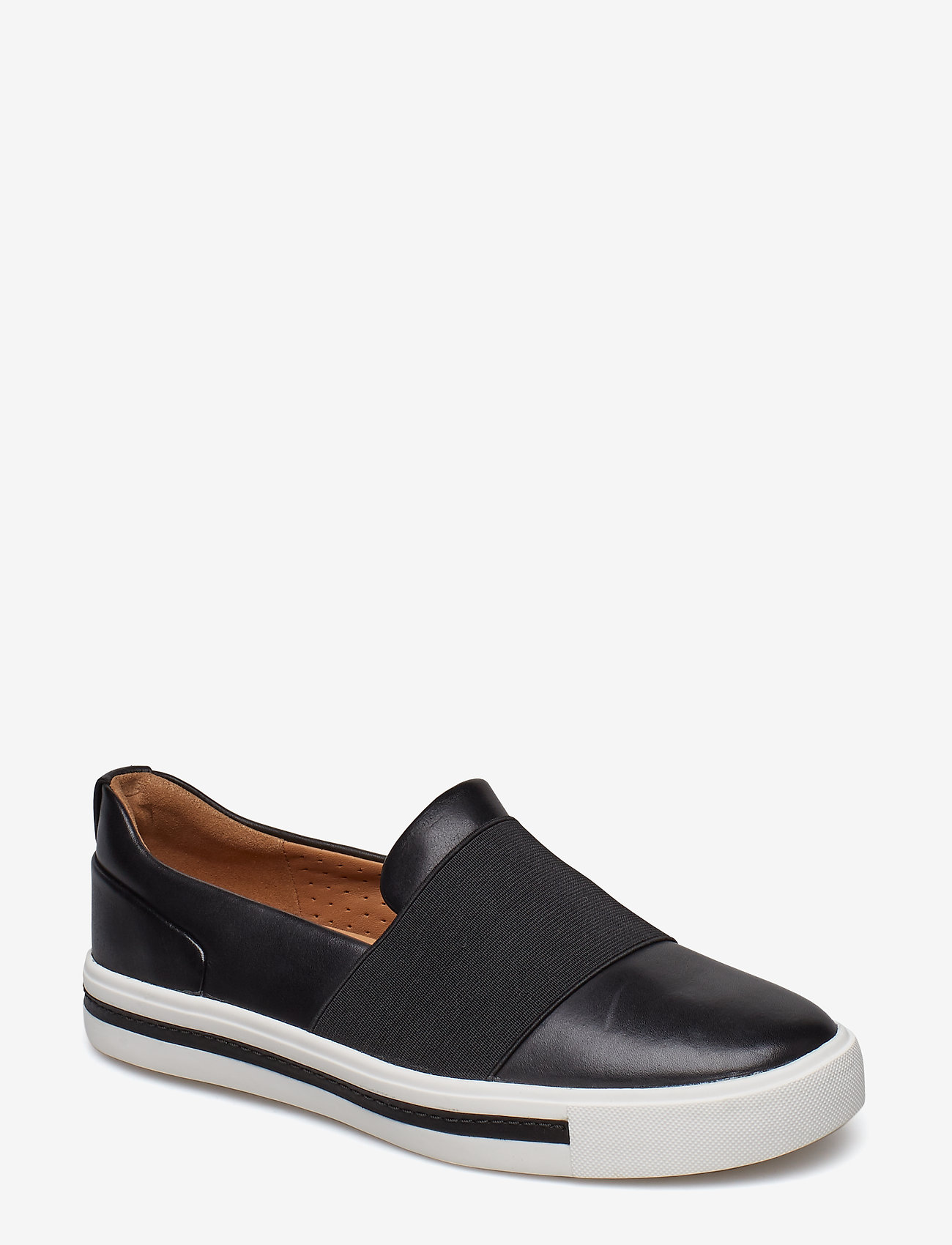 Clarks - Un Maui Step - slip-on sneakers - black leather - 0