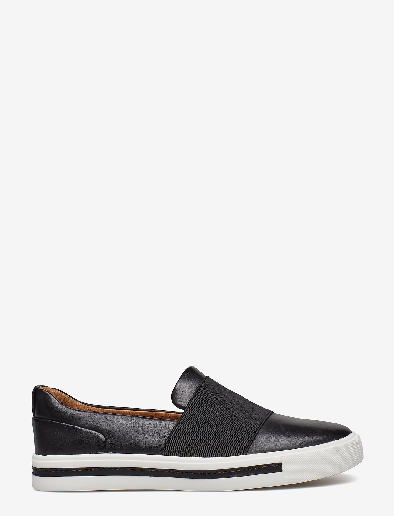Clarks - Un Maui Step - slip-on sneakers - black leather - 1