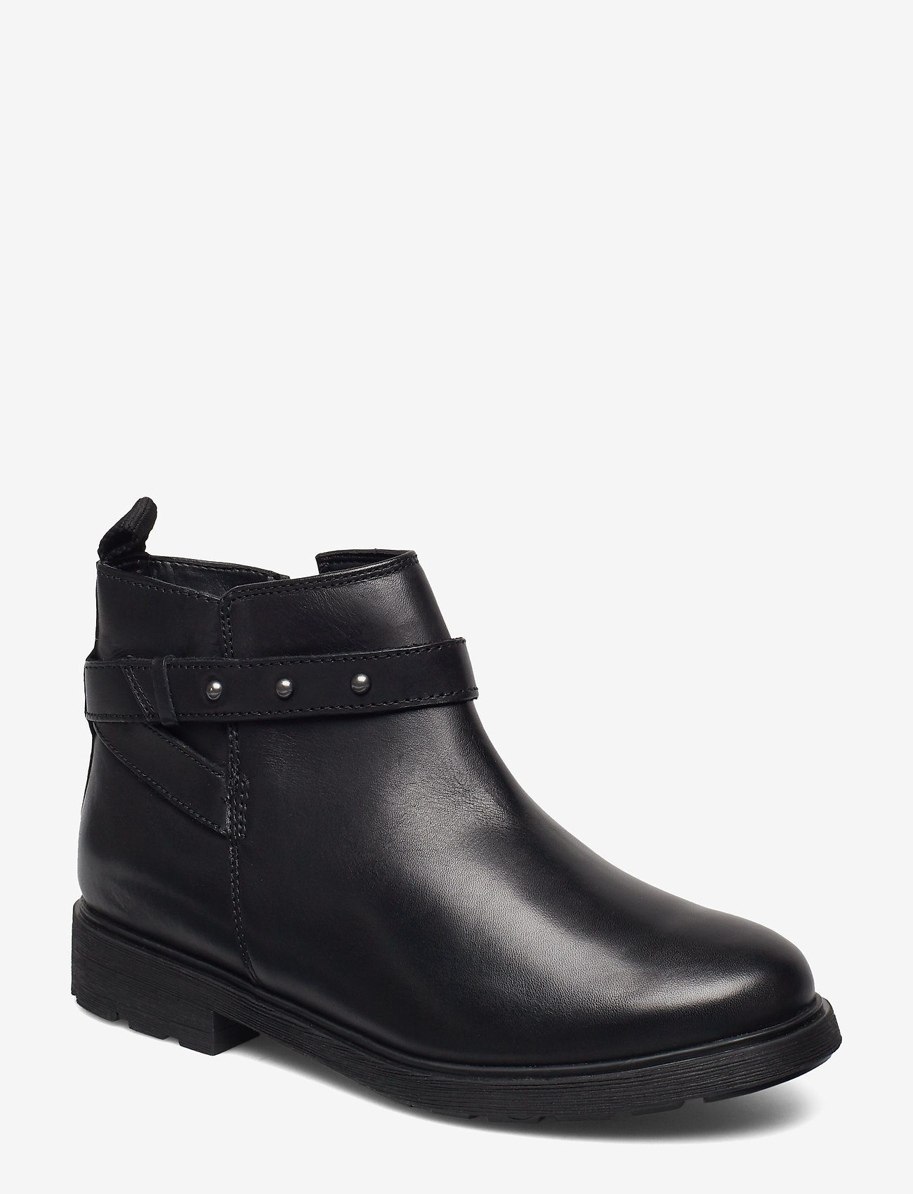 Clarks - Astrol Soar Y - flade ankelstøvler - black leather - 0