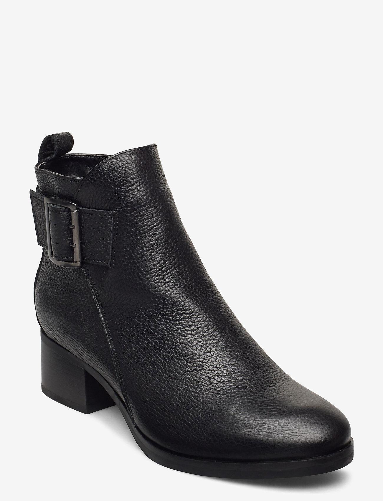 Clarks - Mila Charm - enkellaarsjes met hak - black leather - 0