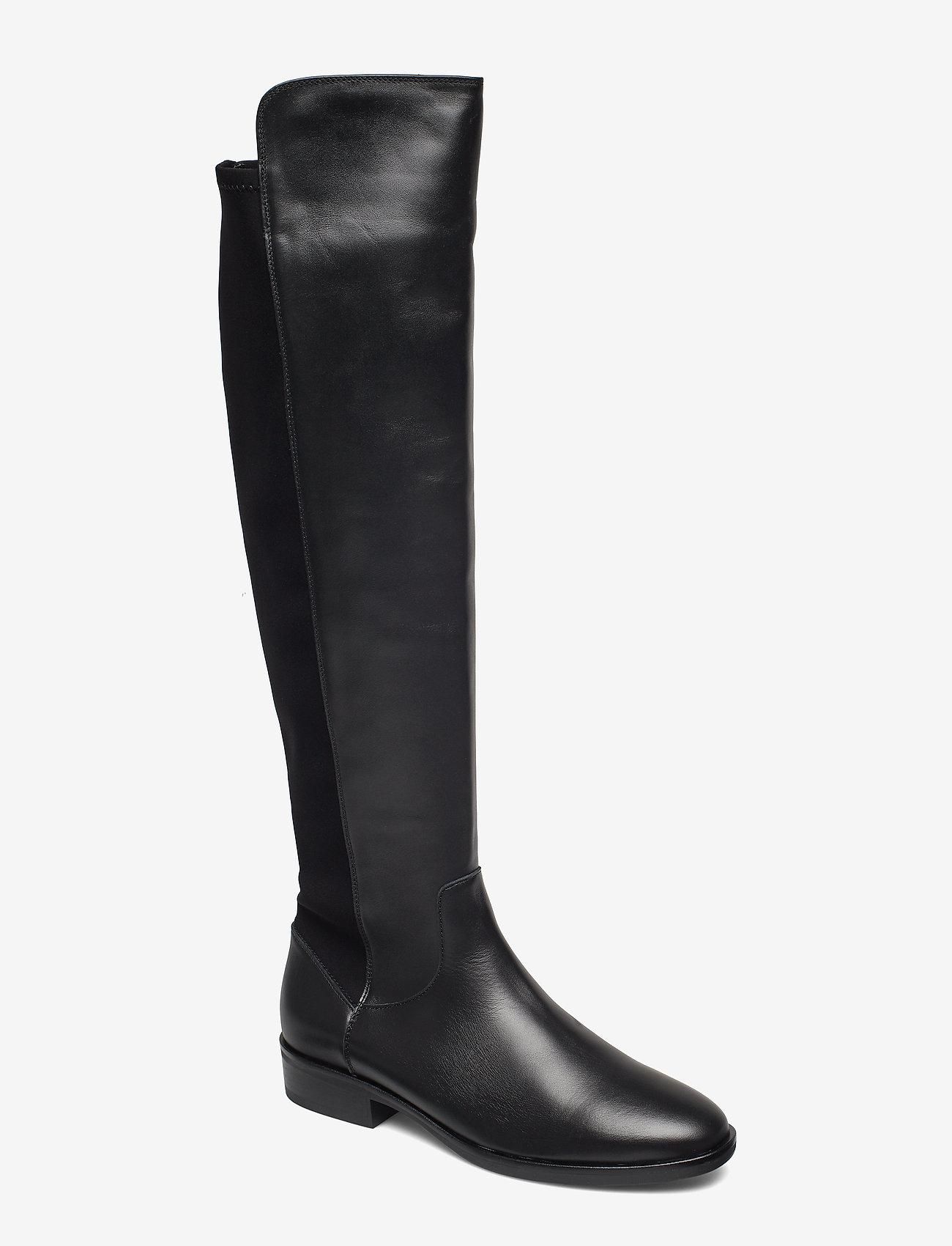 Clarks - Pure Caddy - lange laarzen - black leather - 0