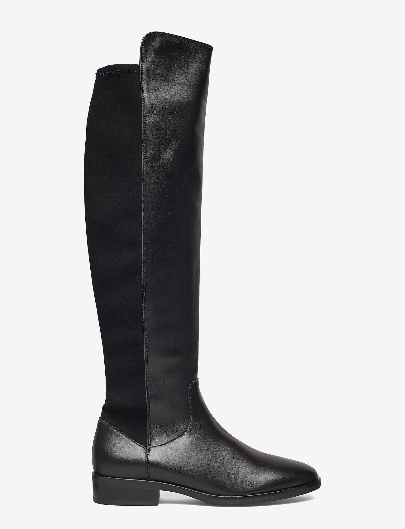Clarks - Pure Caddy - lange laarzen - black leather - 1