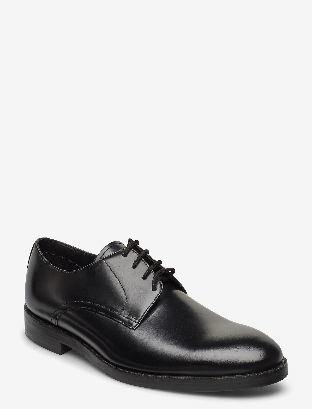 Clarks - Oliver Lace - snøresko - black leather - 0