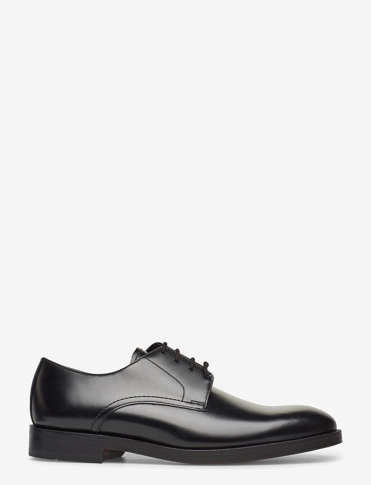 Clarks - Oliver Lace - snøresko - black leather - 1