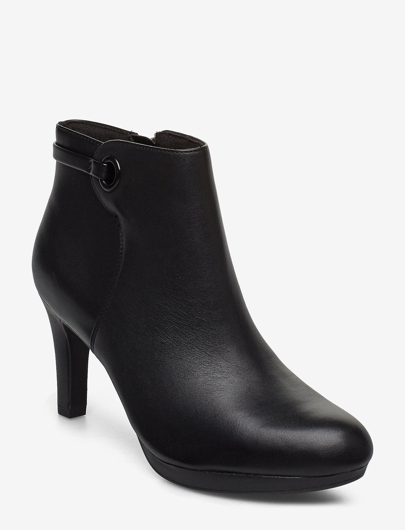 Clarks - Adriel Mae - ankelstøvler med hæl - black leather - 0