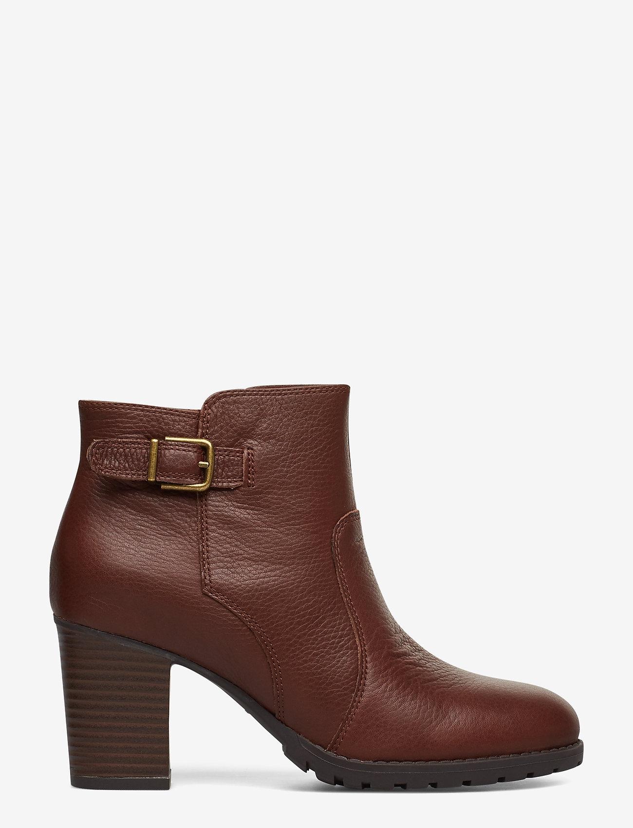 Clarks - Verona Gleam - ankelstøvler med hæl - british tan - 1