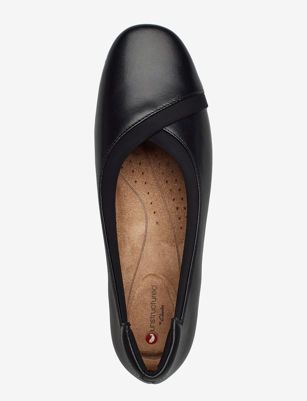 Un Darcey Ease (Black Leather) - Clarks