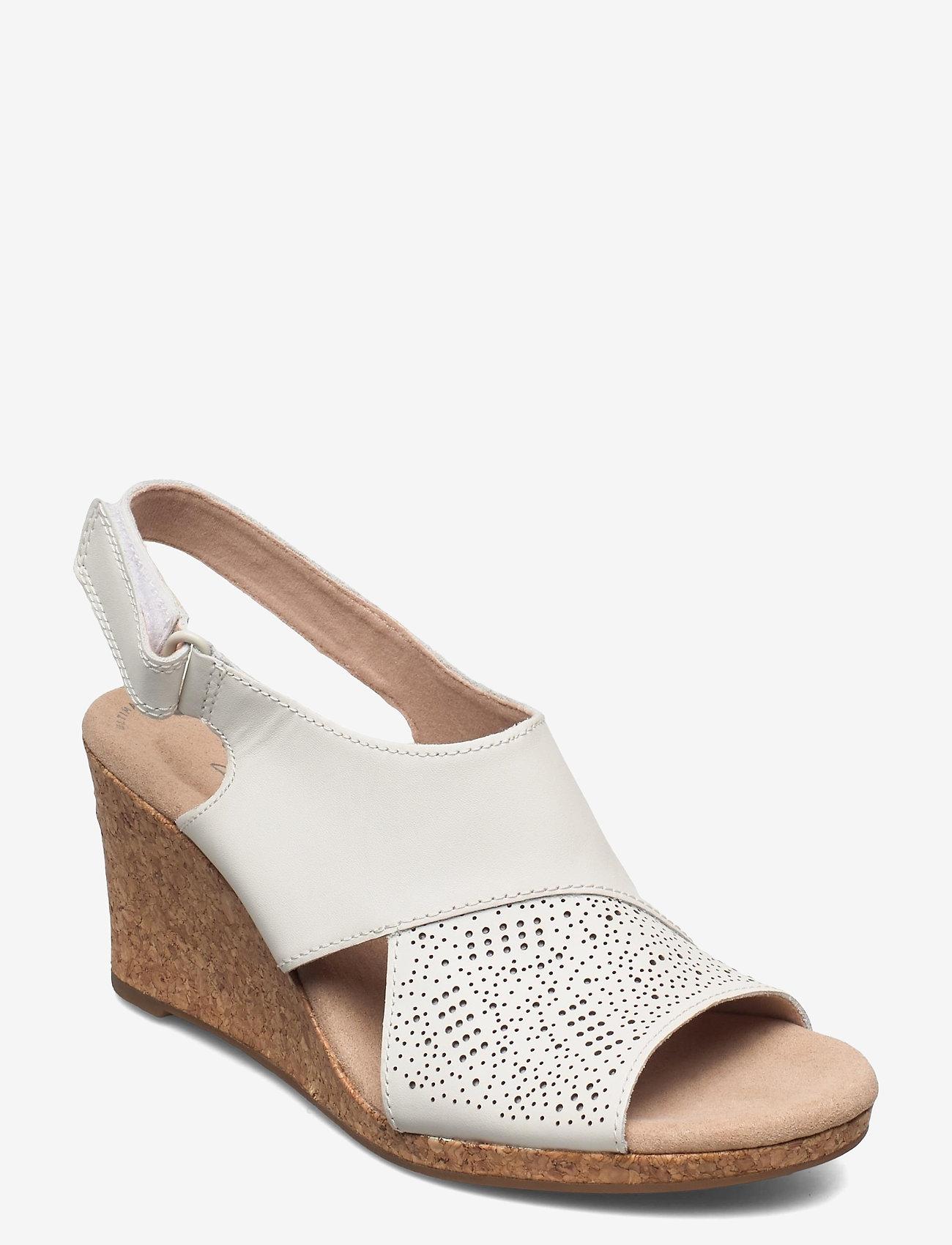 Clarks - Lafley Joy - kilklackar - white leather - 1