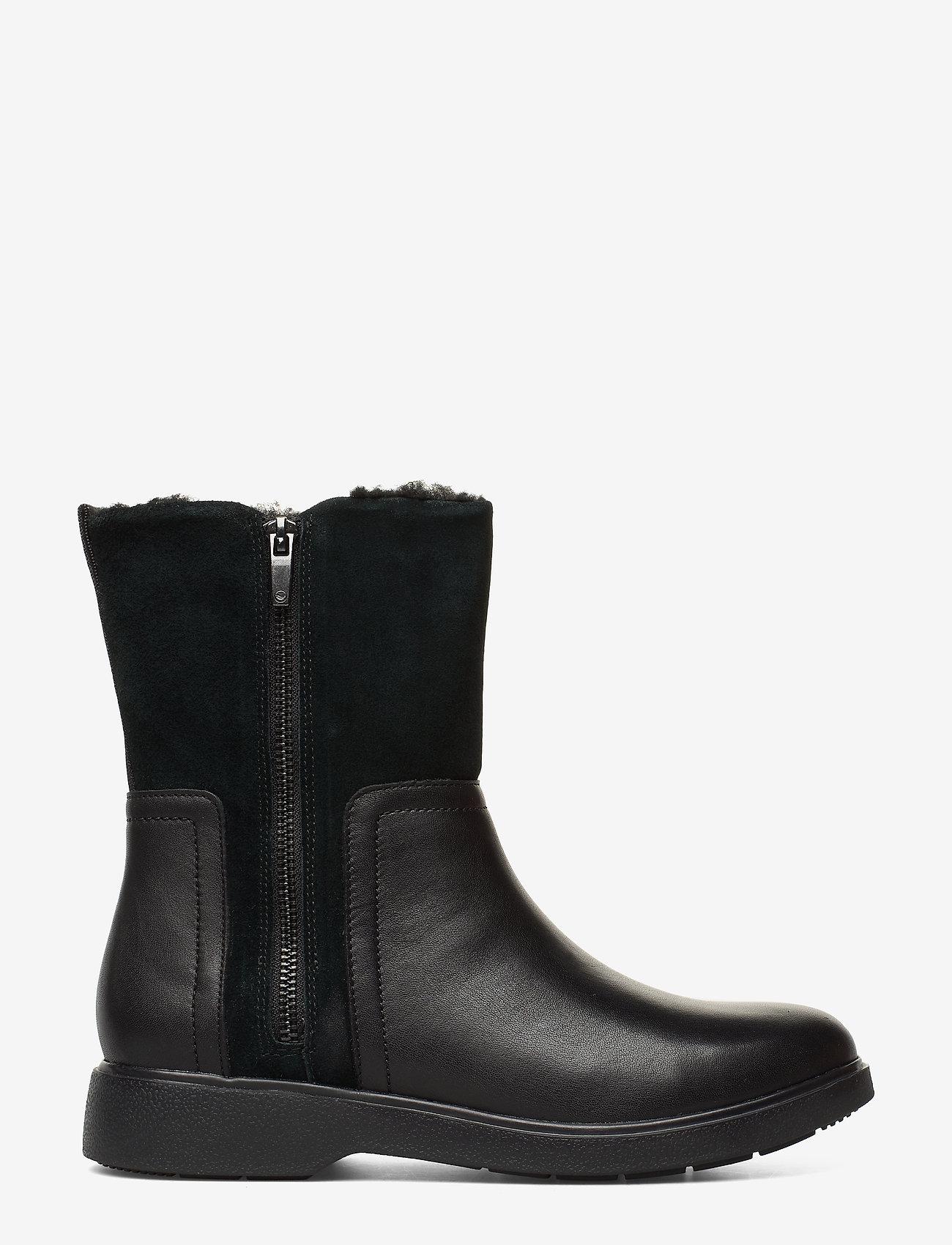 Clarks - Un Elda Mid - platta ankelboots - black combi - 1