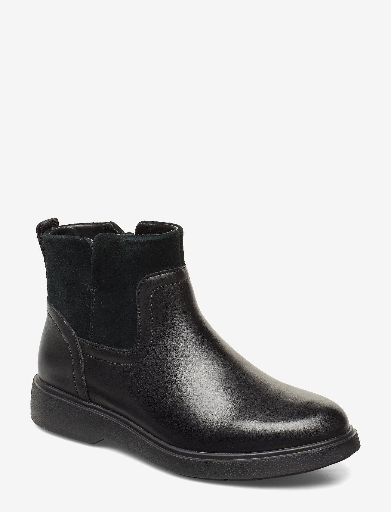 Clarks - Un Elda Lo - platta ankelboots - black combi - 0