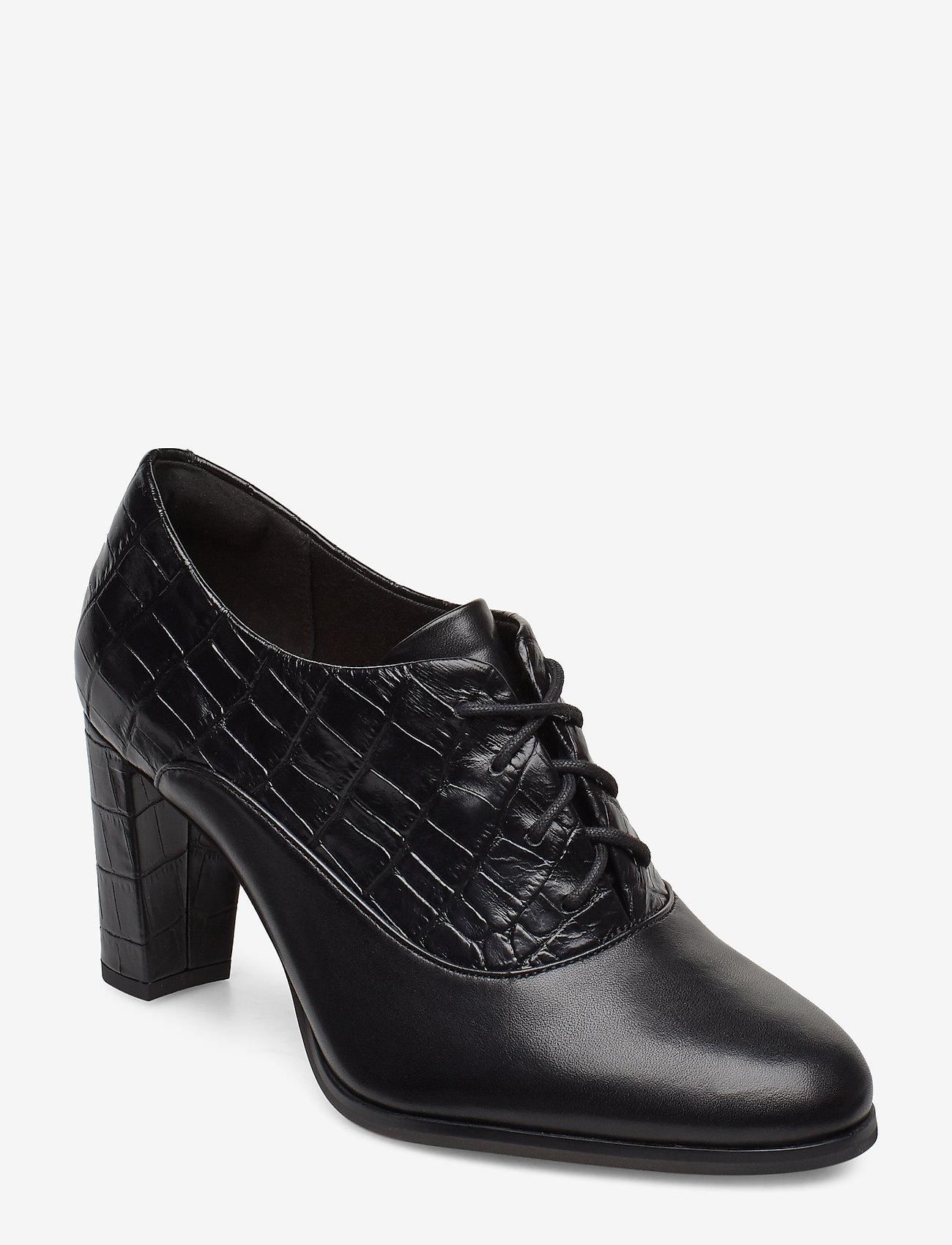 Clarks - Kaylin Ida - ankelstøvler med hæl - black combi - 0