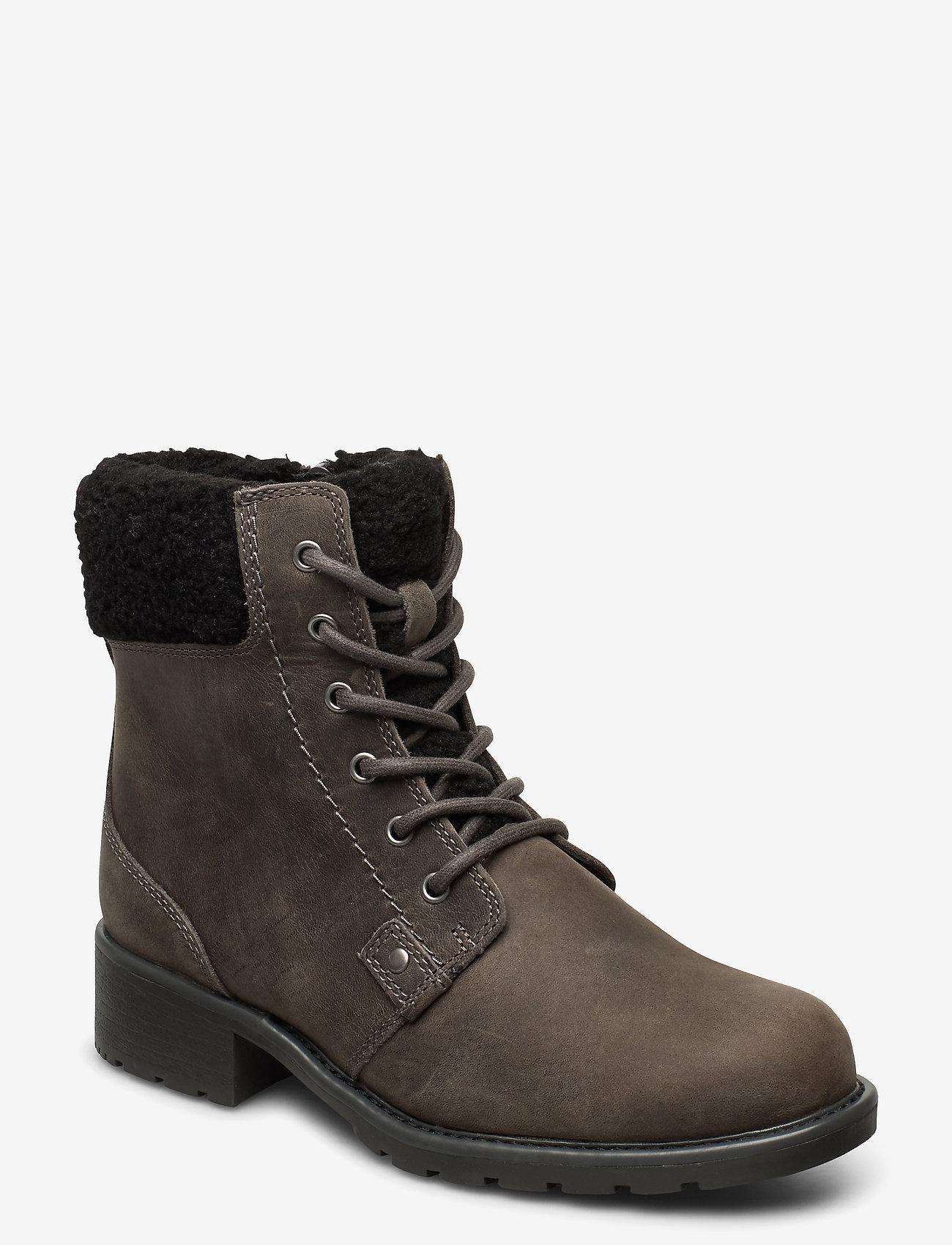 Clarks - Orinoco Dusk - flat ankle boots - dark grey lea - 0