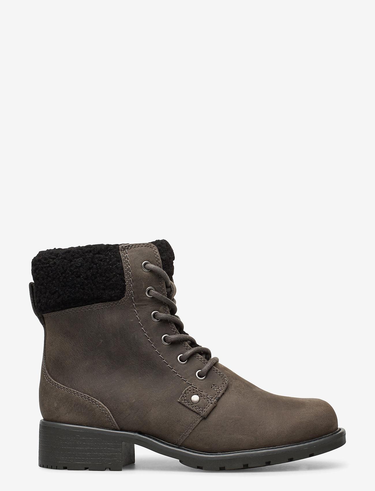 Clarks - Orinoco Dusk - flat ankle boots - dark grey lea - 1