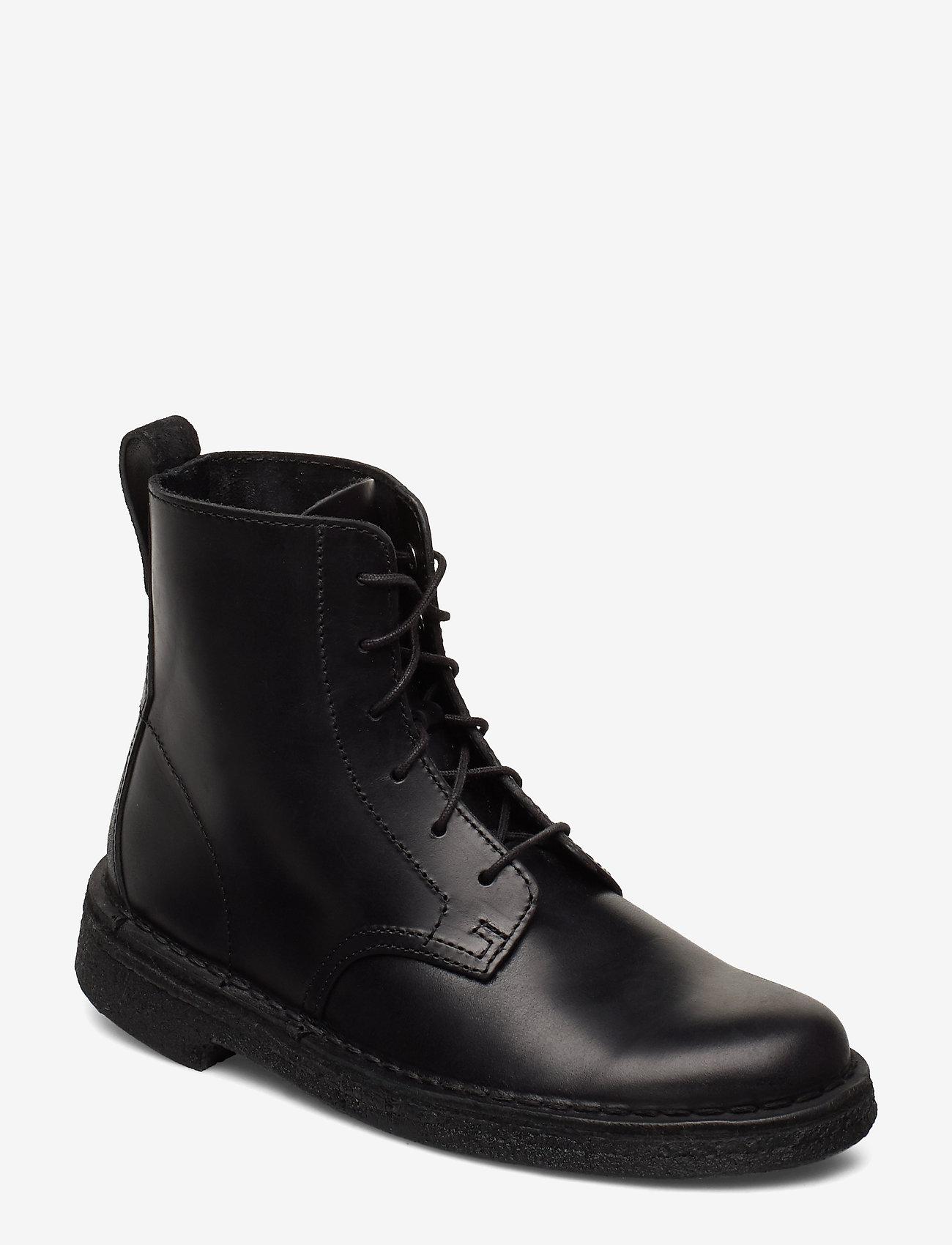 Clarks - Desert Mali. - flade ankelstøvler - black leather - 0
