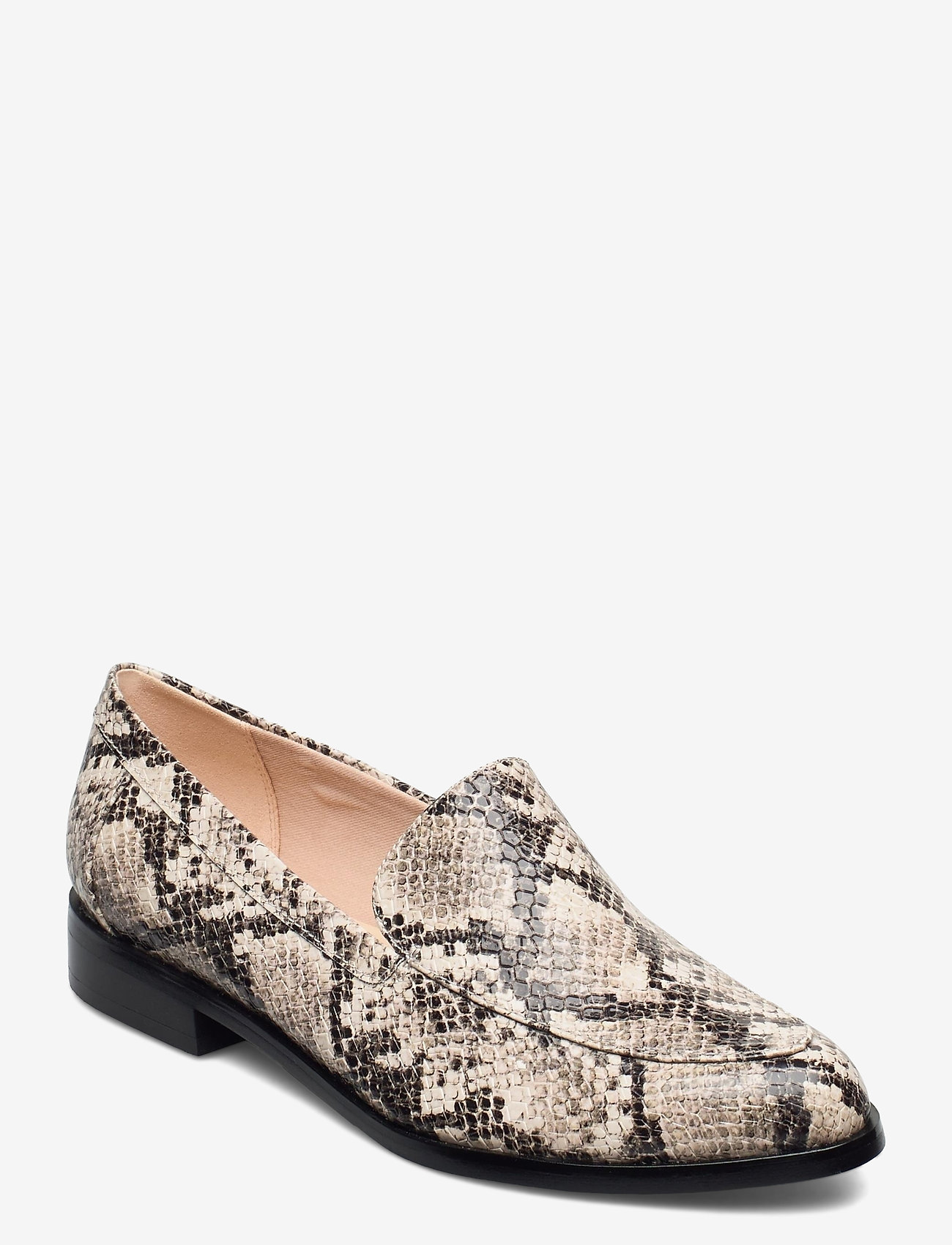 Clarks - Bizzy Dawn - loafers - taupe snake - 0