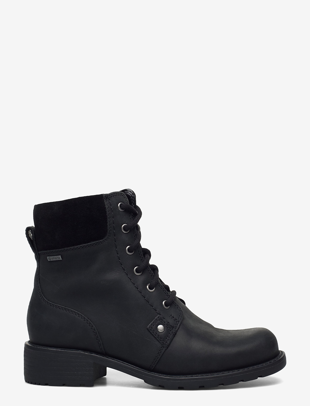 Clarks - Orinoco Up GTX - platte enkellaarsjes - black leather - 1